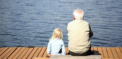 Kid and Grandpa Dock
